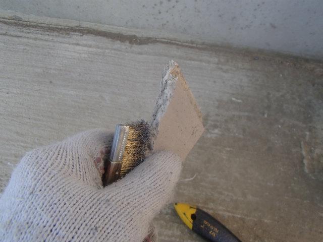 サイディングボード 断面 清掃