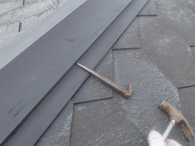 釘 打ち込み 屋根塗装