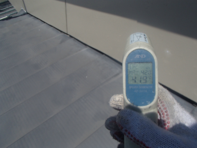 外壁の表面温度