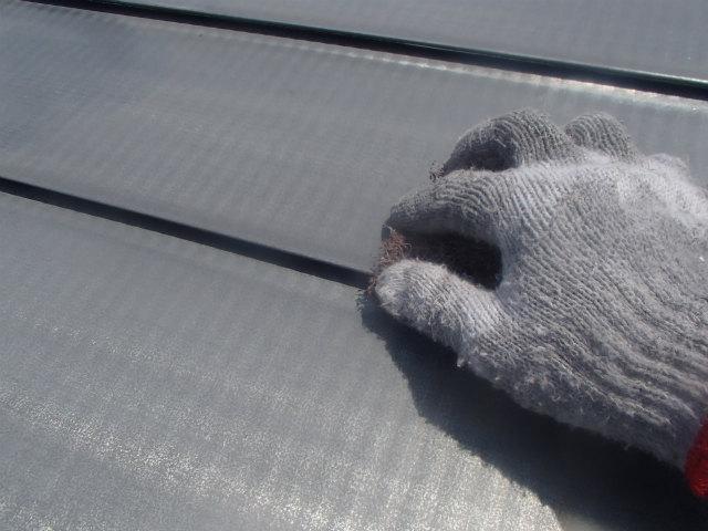 降り曲り部分 トタン屋根塗装