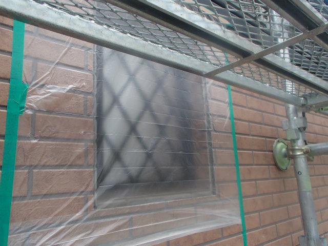 格子 外壁塗装 養生