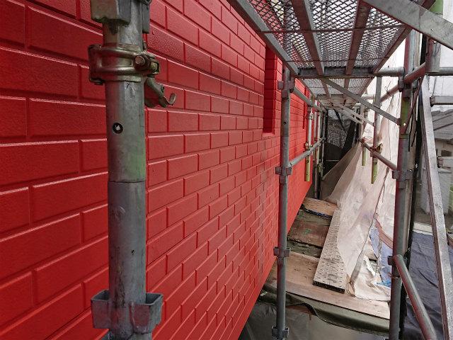 養生 外壁塗装 上塗り