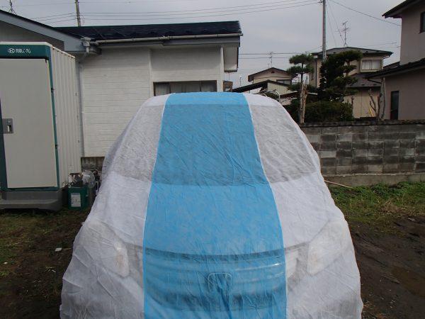 外壁塗装 車 養生 カーシート 不織布