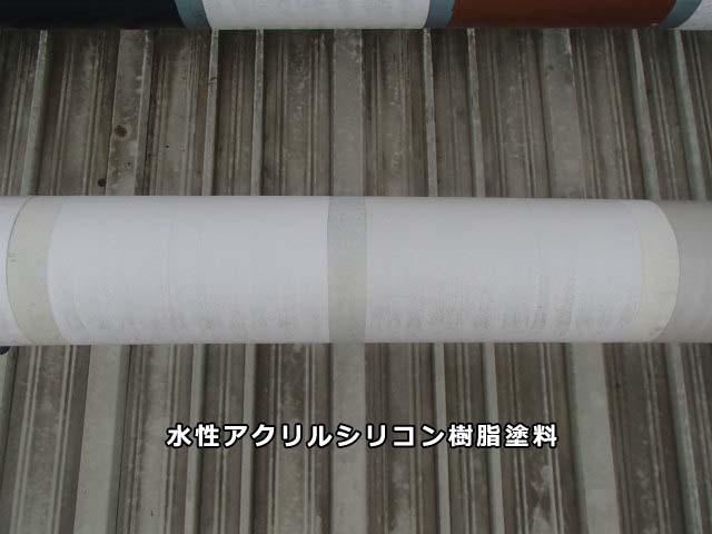 アクリルシリコン樹脂塗料 1年後 雨筋実験