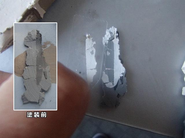セロハンテープ シーリングと塗膜  付着性テスト