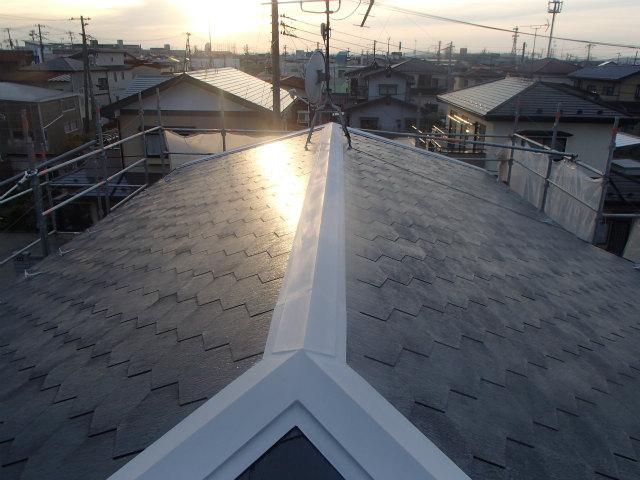 下塗り完了 屋根塗装