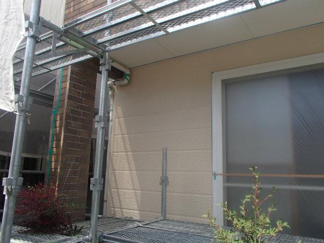 上塗り2回目 外壁塗装 ナノコンポジットW