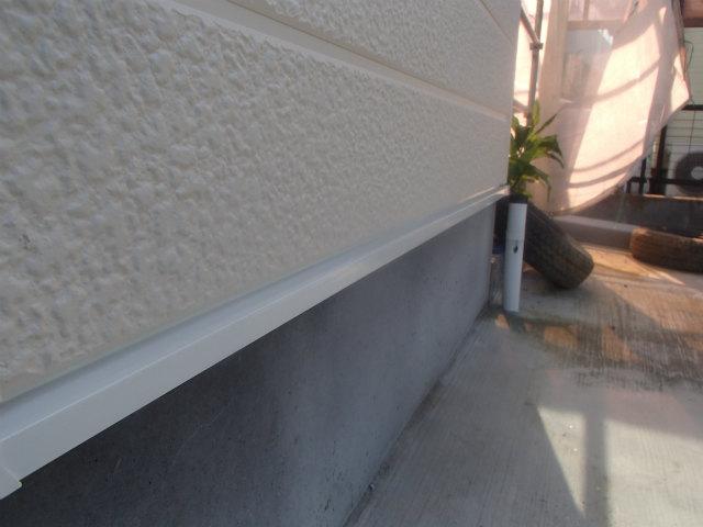 土台水切り 上塗り1回目塗装