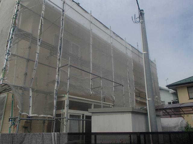 北面 外壁塗装 上塗り2回塗り