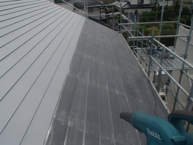 ケレン後 トタン屋根塗装