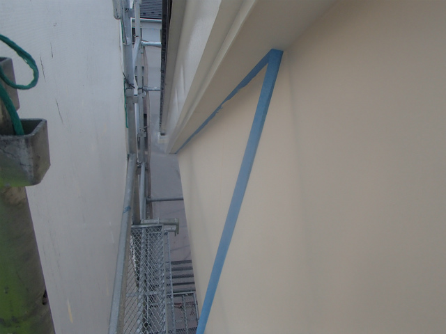 上塗り 完了 外壁塗装
