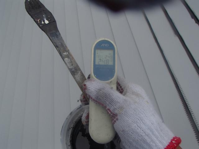 表面温度 トタン屋根 北面