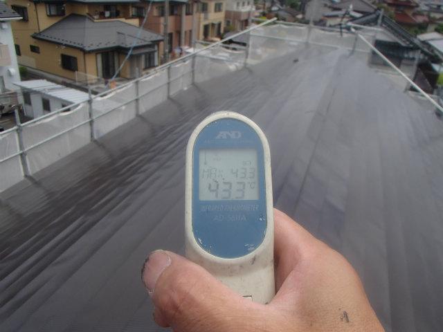北面 トタン屋根 表面温度
