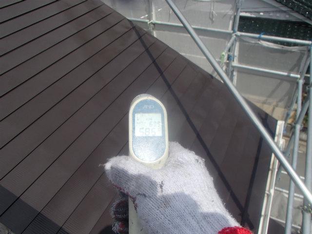 トタン屋根の表面温度