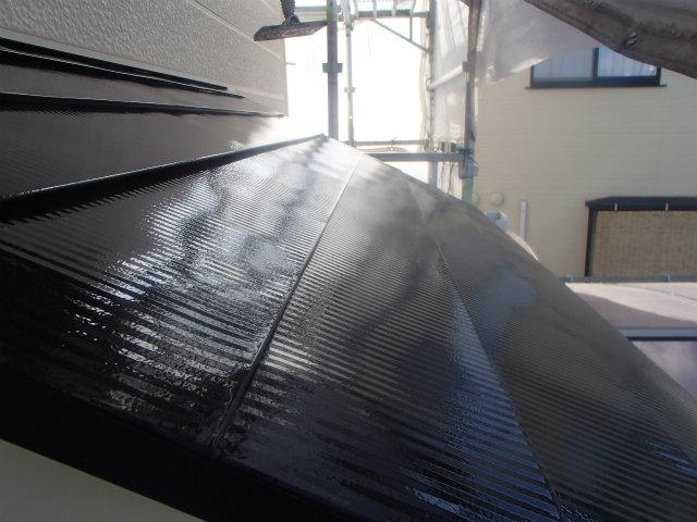 北面 トタン屋根 上塗り2回目