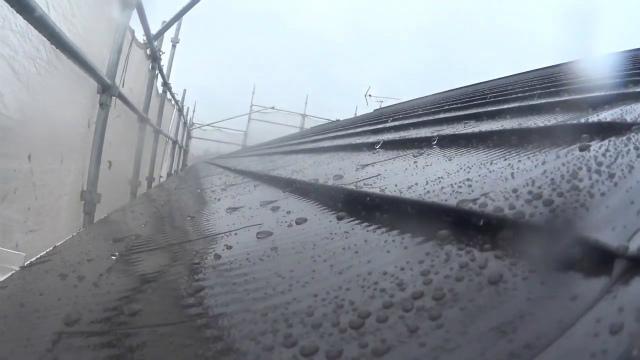 トタン屋根 雨水 折り曲げ部分