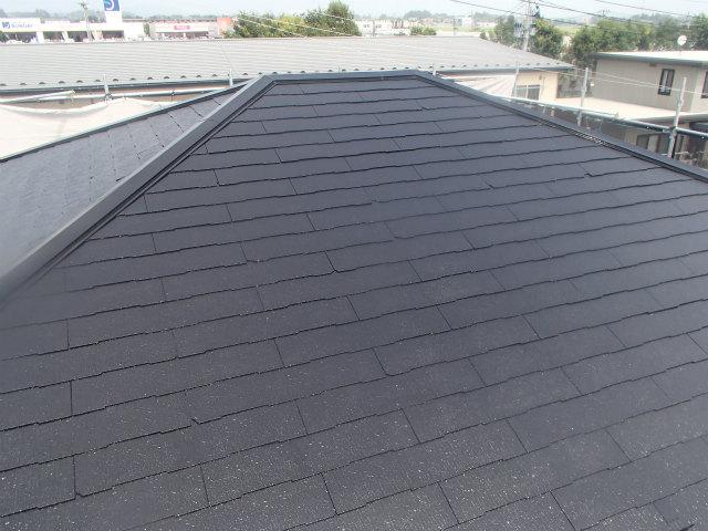 南面 屋根塗装 上塗り2回塗り