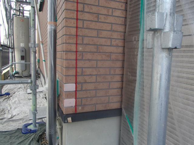外壁塗装の付着性テスト