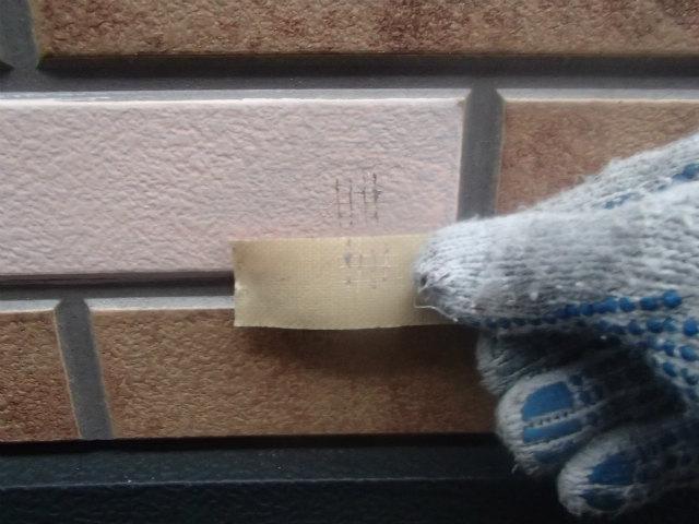 外壁 付着性テスト