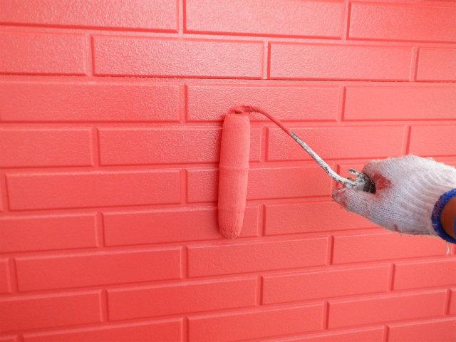 上塗り4回目 外壁塗装