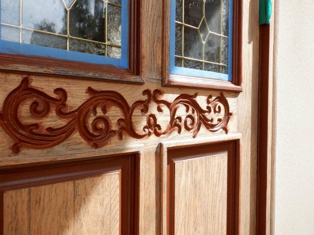細部 上塗り 玄関ドア