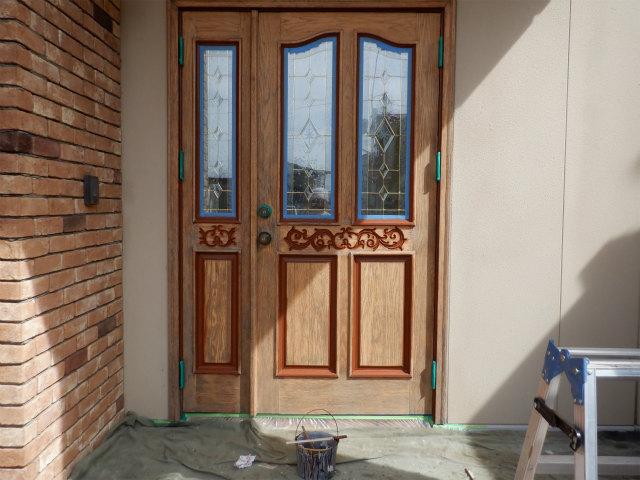 細部 塗装後 玄関ドア