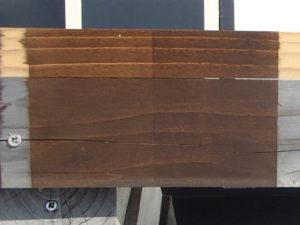 木材保護塗料 屋外暴露試験約1年後