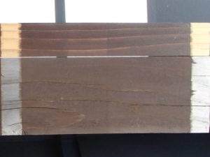 木材保護塗料1年後T