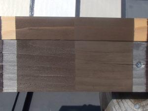 木材保護塗料 屋外暴露試験約2年後