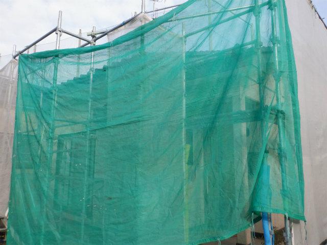 外壁塗装 メッシュシート 高圧洗浄