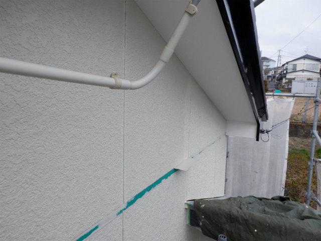 東面 外壁塗装 ナノコンポジットW防藻+プラス