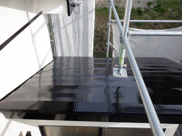 トタン屋根 上塗り2回目
