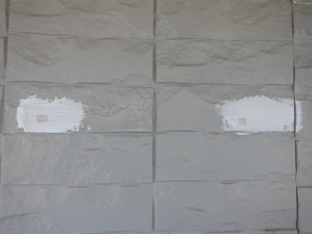 付着性テスト 外壁塗装