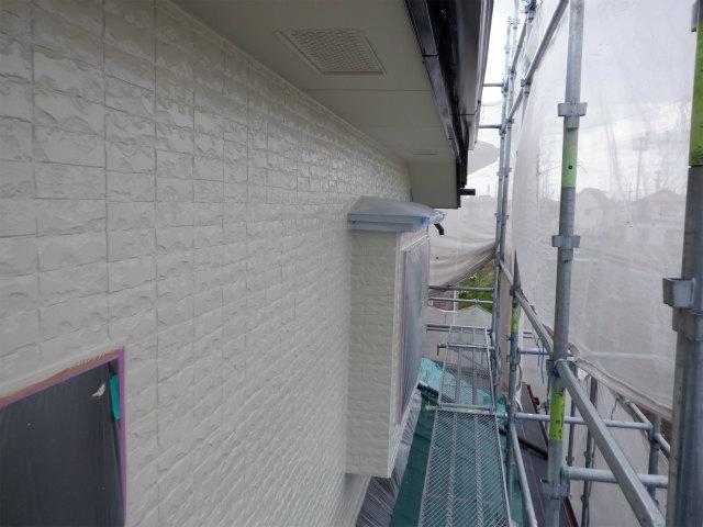 北面 上塗り1回目 外壁塗装