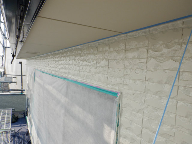 外壁塗装 2階 上塗り2回目