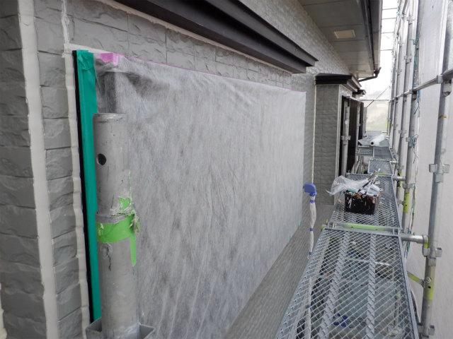 1階 窓 養生 不織布