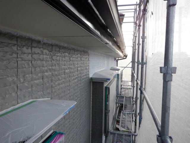 北面 外壁塗装 下塗り