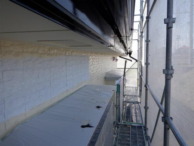 上塗り1回目 外壁塗装 石巻