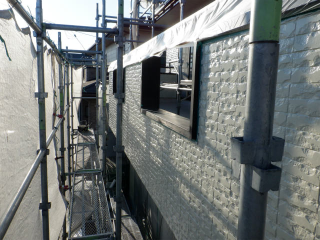 上塗り1回目完了 外壁塗装
