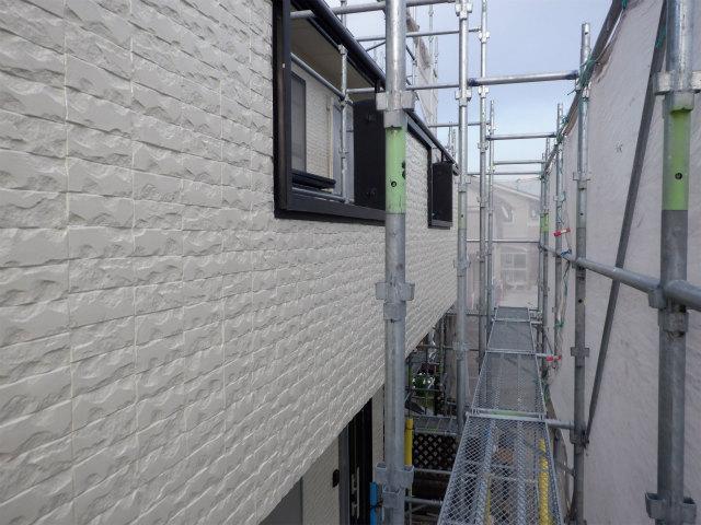 外壁塗装 上塗り2回目 石巻市