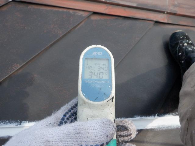 朝一 トタン屋根表面温度