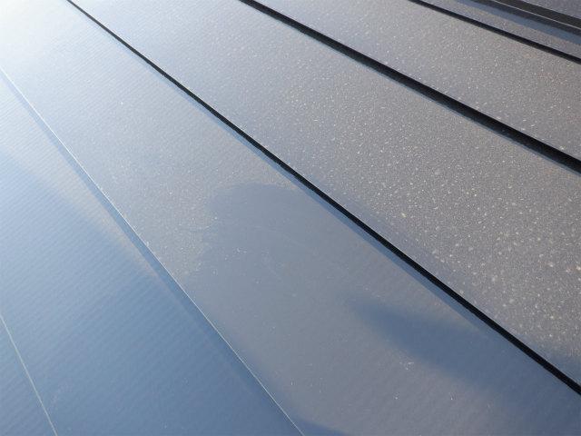 花粉 トタン屋根