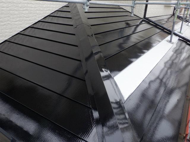 上塗り1回目 完了 トタン屋根