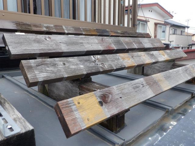 屋外暴露試験 5年 木材保護塗料