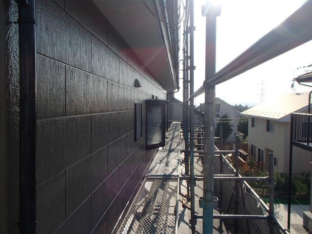 外壁塗装 上塗り ファインシリコンフレッシュ