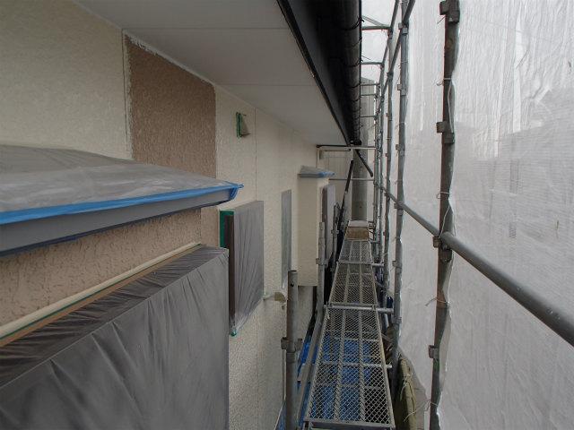 外壁塗装 下塗り兼中塗り 宮城県石巻市 無機塗料
