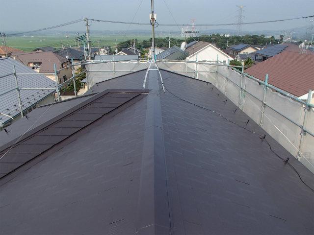 上塗り 宮城県石巻市 カラーベスト 屋根塗装