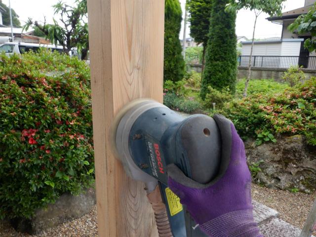 研磨 木材保護塗料 ランダムサンダー