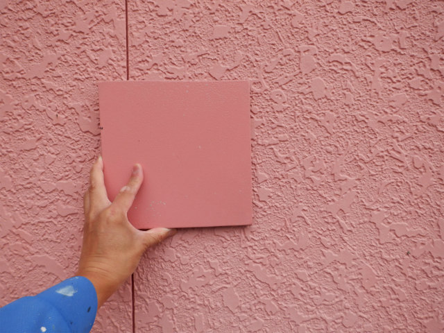 西面 カラーミューズ 測色 宮城県石巻市仙台市 外壁塗装 8年後