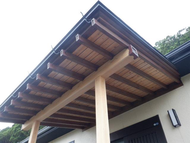 木材保護塗料 上塗り1回目